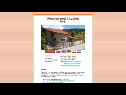 www.penzionpodchocom.sk