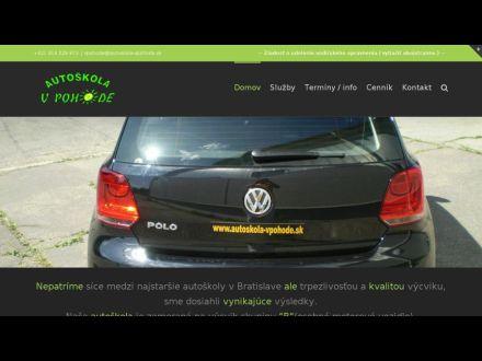 www.autoskola-vpohode.sk