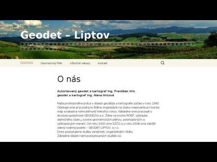 www.geodetliptov.sk