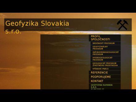 www.geofyzikaslovakia.sk