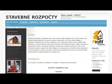 www.profit-rozpocty.sk