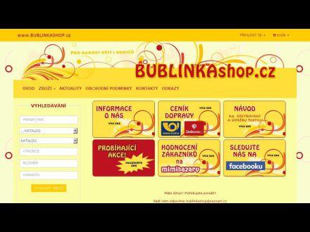 www.bublinkashop.cz
