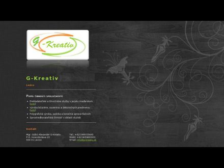 www.g-kreativ.sk