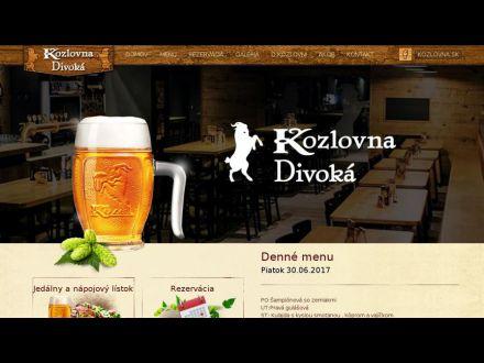 www.kozlovnadivoka.sk